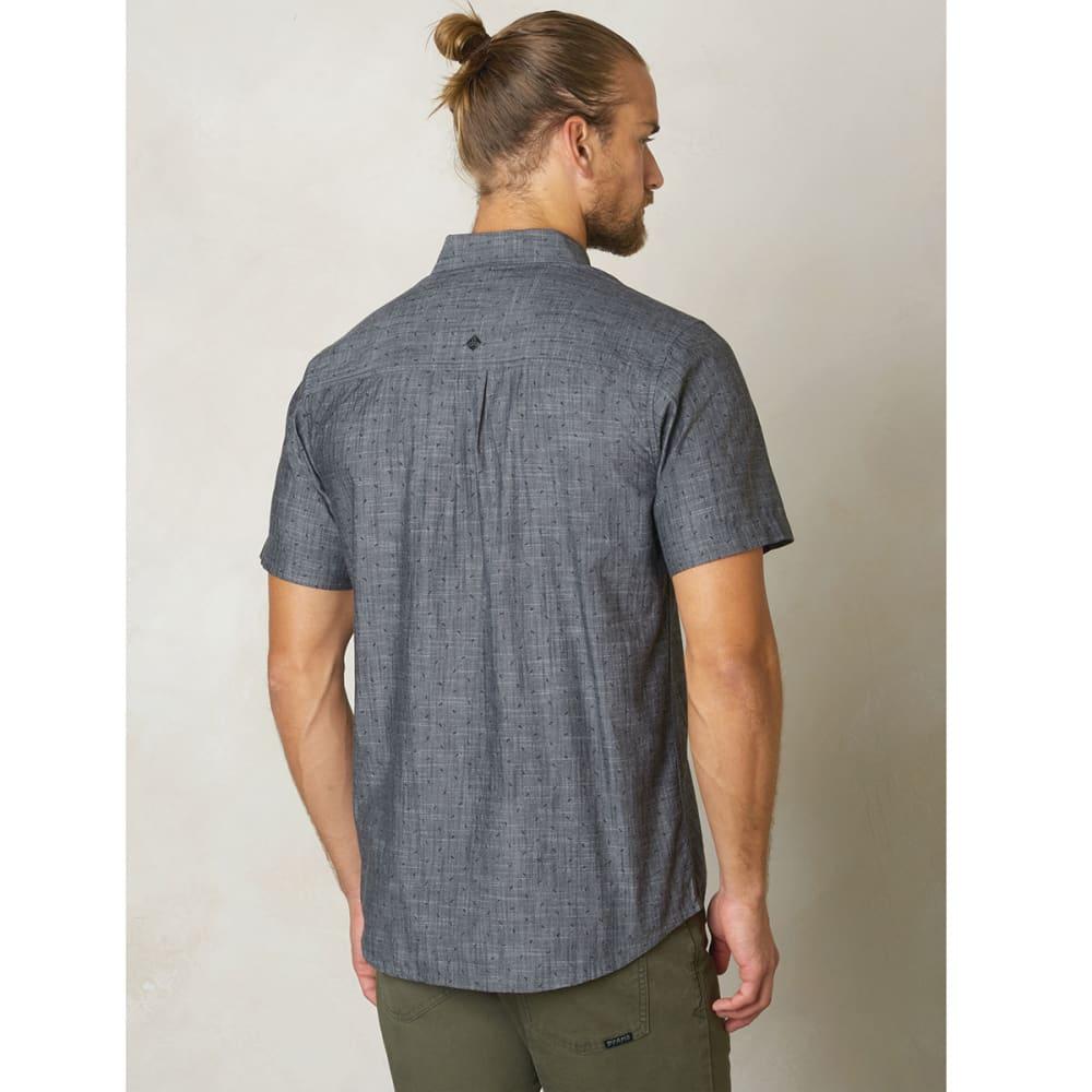 PRANA Men's Broderick Organic Cotton Slim Fit S/S Shirt - INDIGO