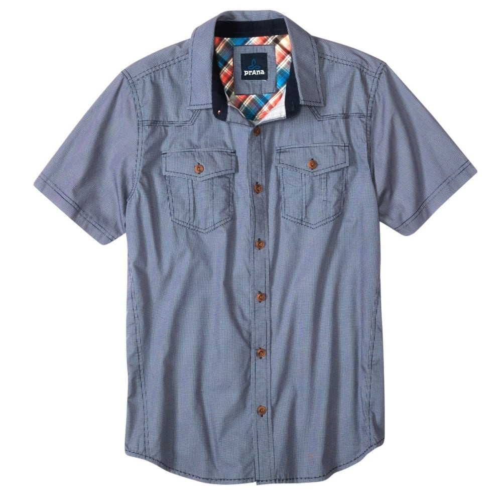 PRANA Men's Borla Short-Sleeve Shirt - BLUE RIDGE