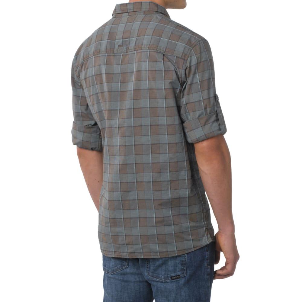 PRANA Men's Terrain Shirt, L/S - ESPRESSO