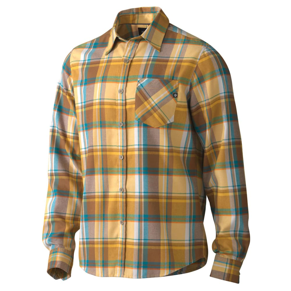 MARMOT Men's Doheny Flannel Shirt, L/S - YELLOW
