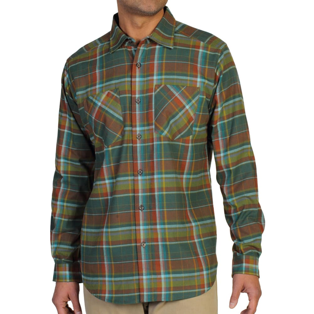 EXOFFICIO Men's Geode Flannel Shirt   - PETROL