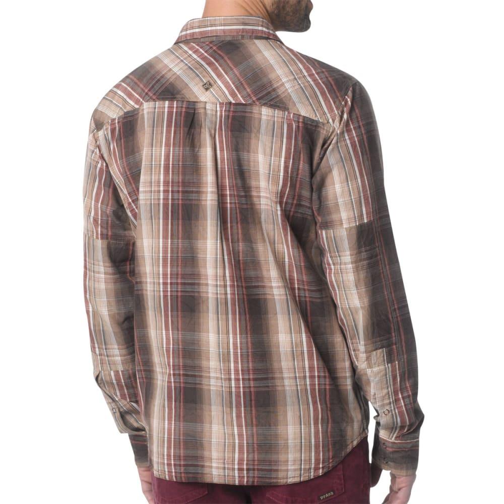 PRANA Men's Midas Shirt, L/S - ESPRESSO