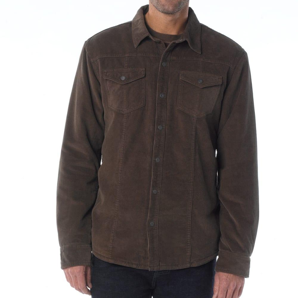 PRANA Men's Gomez Corduroy Shirt - MUD