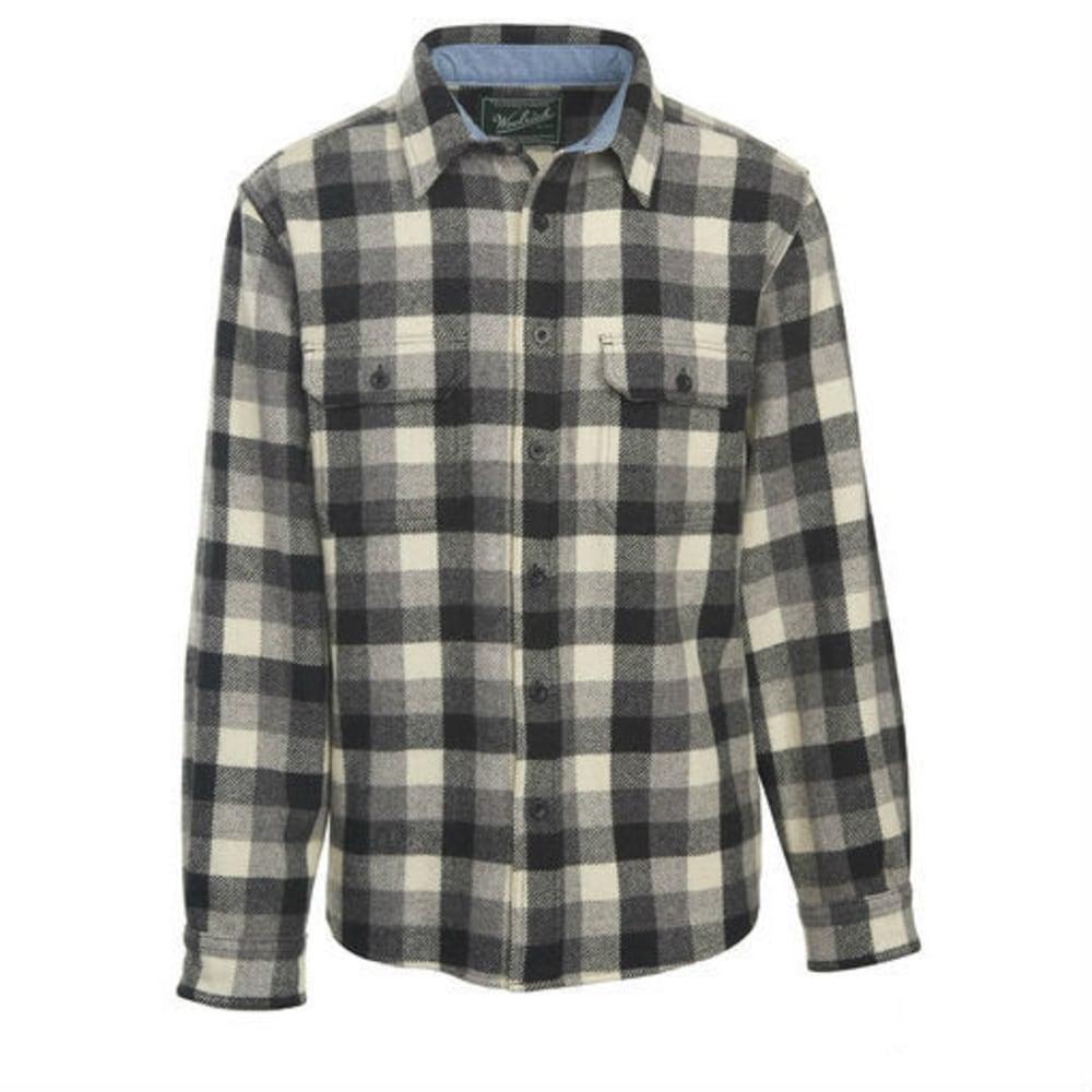 WOOLRICH Men's Buffalo Check Wool Shirt - GRAY