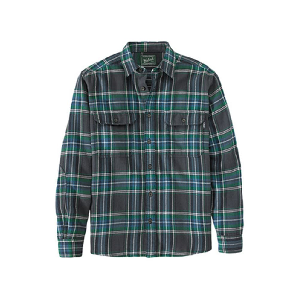 WOOLRICH Men's Oxbow Bend Plaid Flannel Shirt - FOREST GREEN