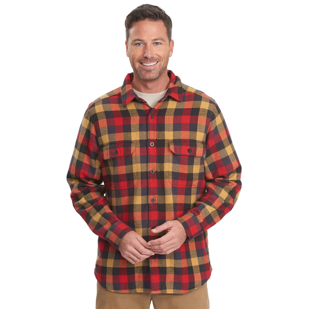 Woolrich men 39 s oxbow bend plaid flannel shirt for Mixed plaid shirt mens