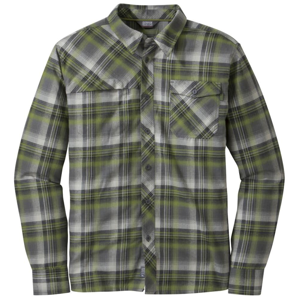 OUTDOOR RESEARCH Men's Tangent Shirt - HOPS/BLACK