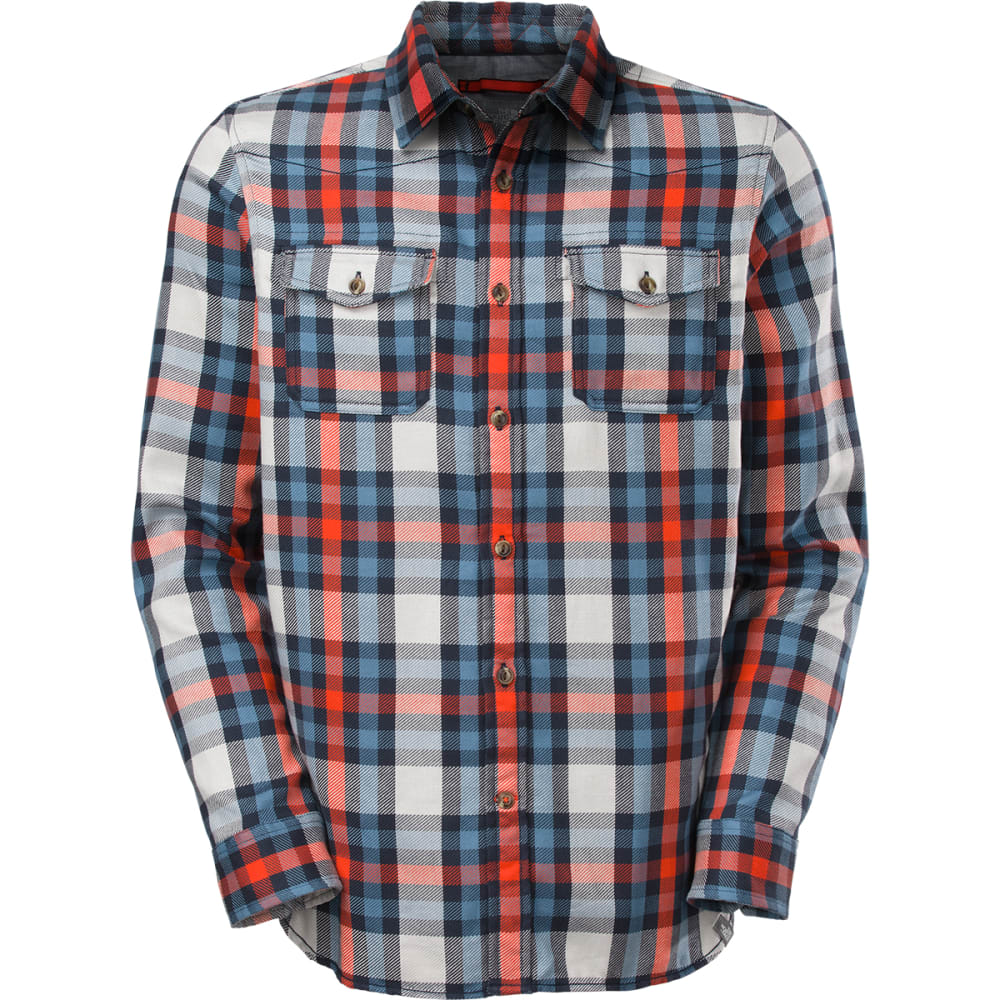 THE NORTH FACE Men's Hayes Long-Sleeve Flannel Shirt - COSMIC BLUE