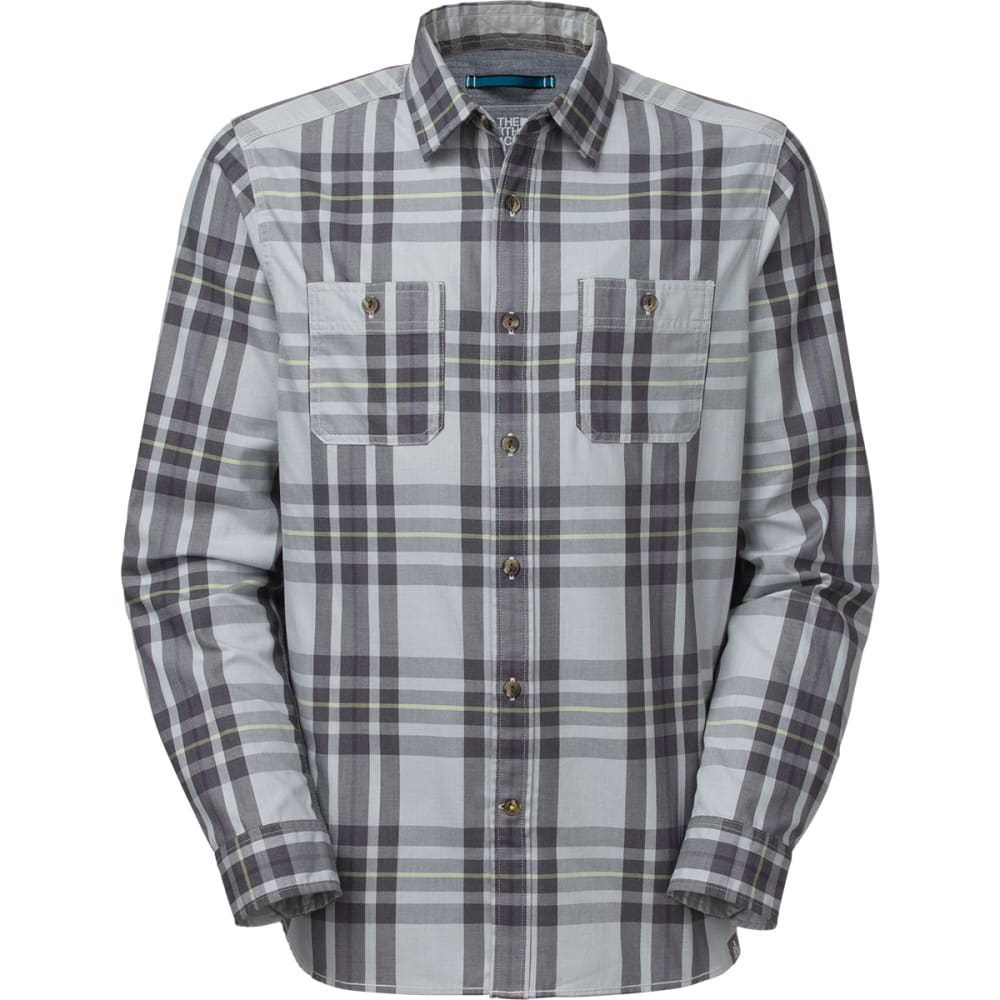 THE NORTH FACE Men's Long-Sleeve Boulder George Shirt - HIGH RISE GREY HEATH