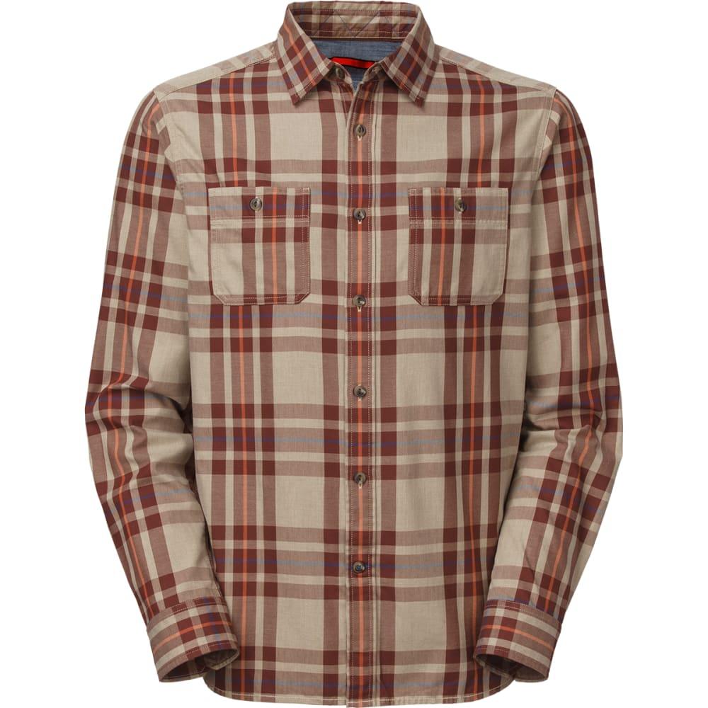 THE NORTH FACE Men's Long-Sleeve Boulder George Shirt - DUNE BEIGE