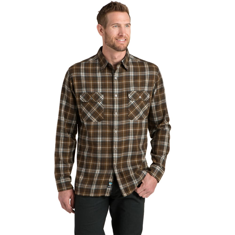 KÜHL Men's Dillngr Long-Sleeve Button Down    - ES-ESPRESSO