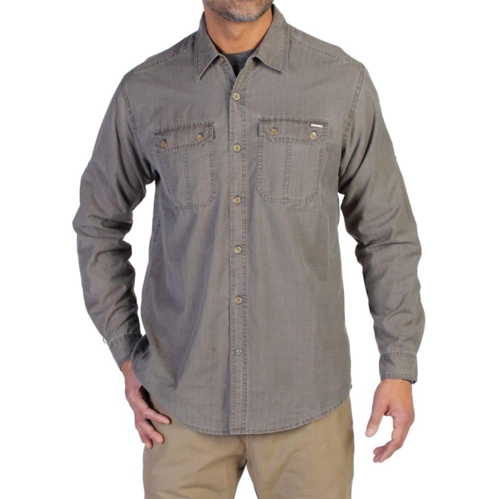 EXOFFICIO Men's Hallstatt Long-Sleeve Shirt  - CIGAR