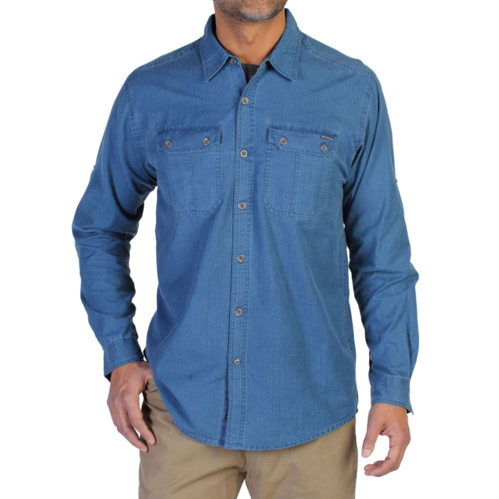 EXOFFICIO Men's Hallstatt Long-Sleeve Shirt - GALAXY BLUE