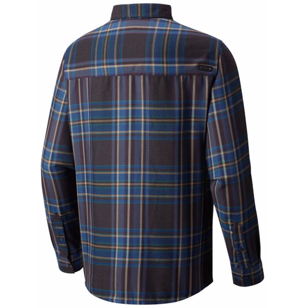 MOUNTAIN HARDWEAR Men's Trekkin' Flannel - 448-NIGHTFALL