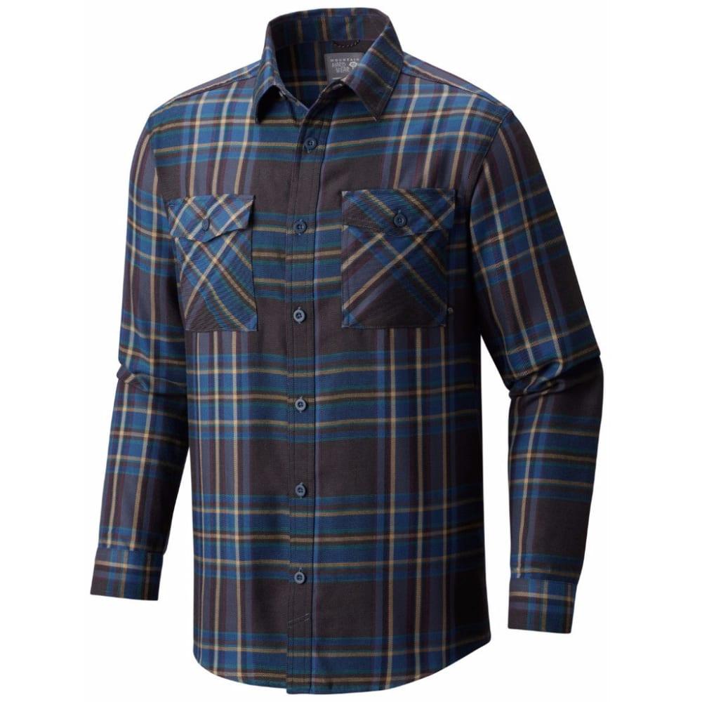 MOUNTAIN HARDWEAR Men's Trekkin' Flannel - 448-NIGHTFALL