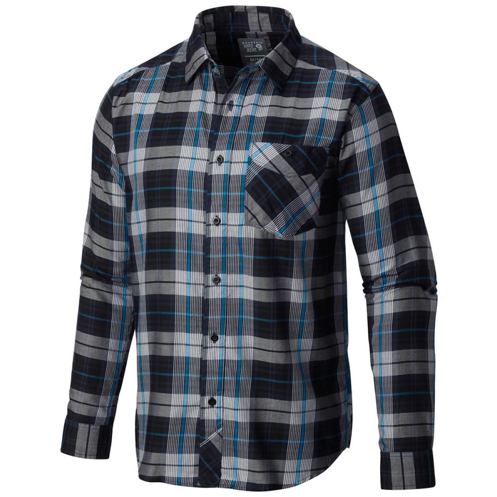 MOUNTAIN HARDWEAR Men's Franklin Long-Sleeve Shirt - COOL BLUE HEATHER