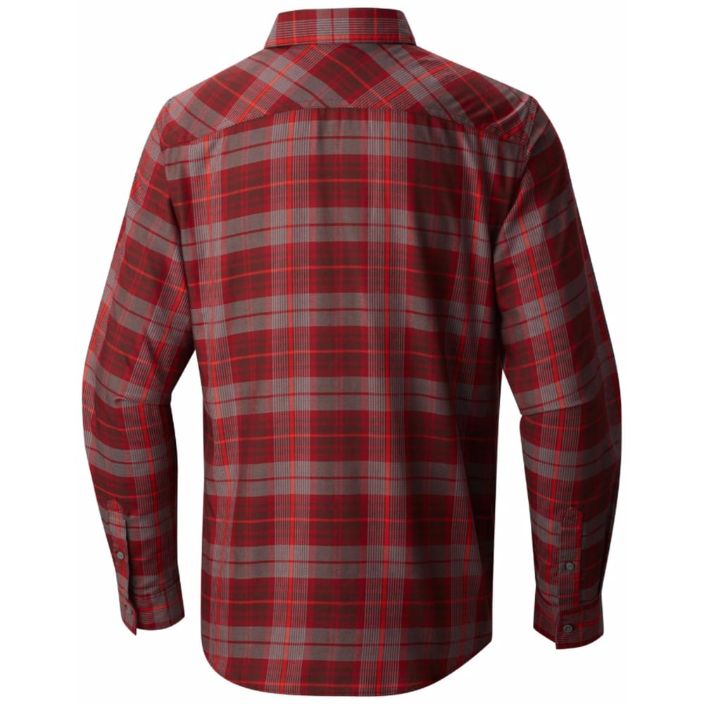 MOUNTAIN HARDWEAR Men's Franklin Long-Sleeve Shirt - DARK FIRE