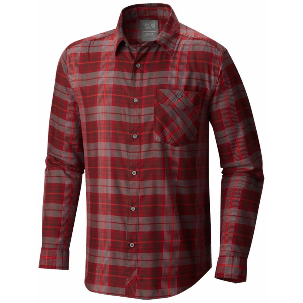 MOUNTAIN HARDWEAR Men's Franklin Long-Sleeve Shirt - DARK FIRE