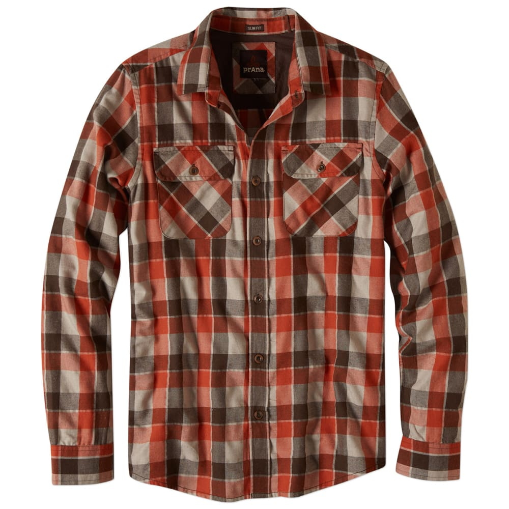 PRANA Men's Huntley Button-Down Shirt - MUD