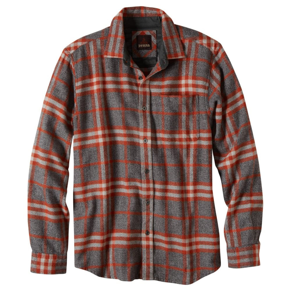PRANA Men's Woodman Long-Sleeve Flannel - HENNA