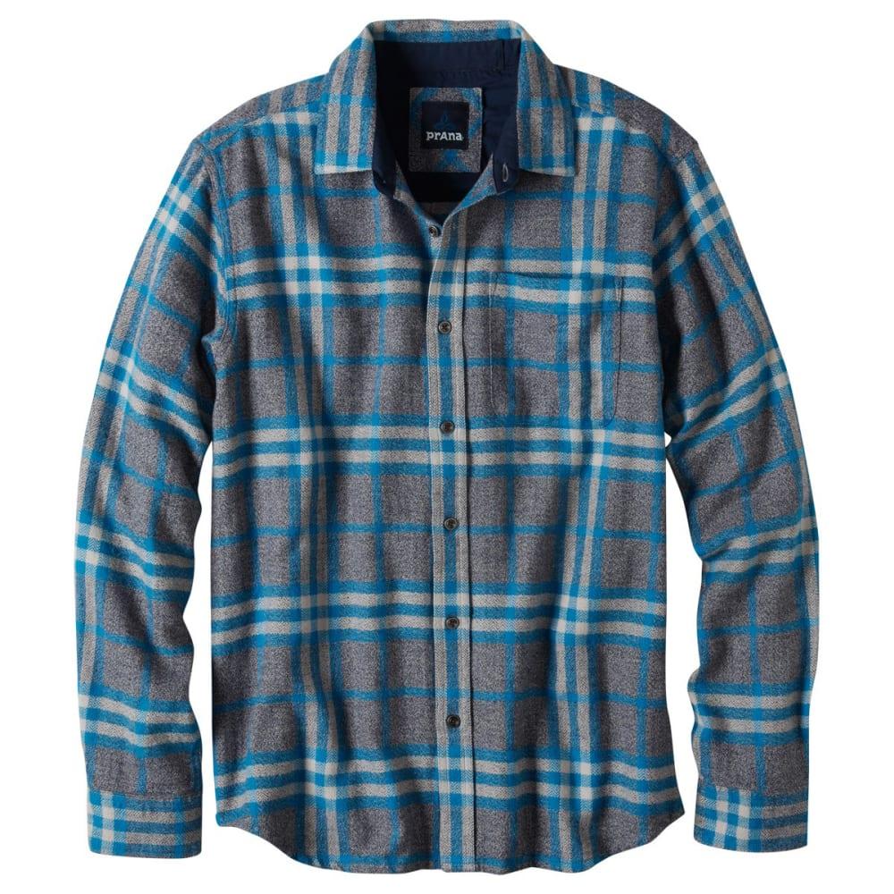 PRANA Men's Woodman Long-Sleeve Flannel - MOSAIC BLUE