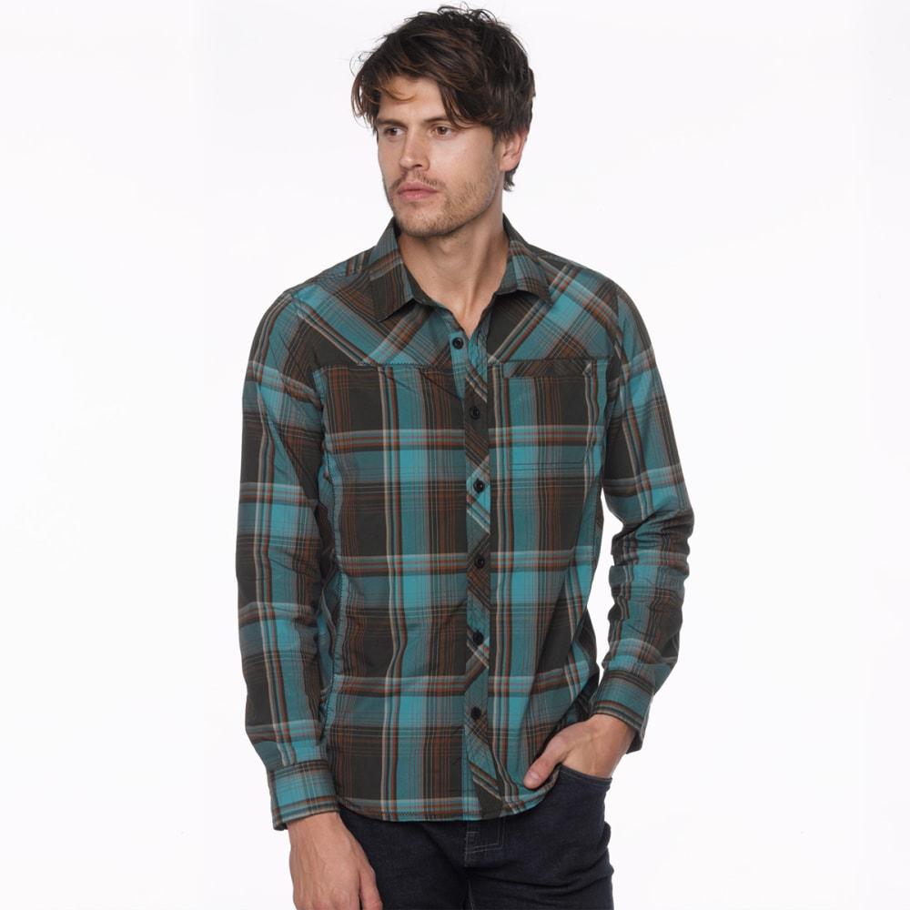 PRANA Men's Farley Long-Sleeve Shirt - DARK OLIVE