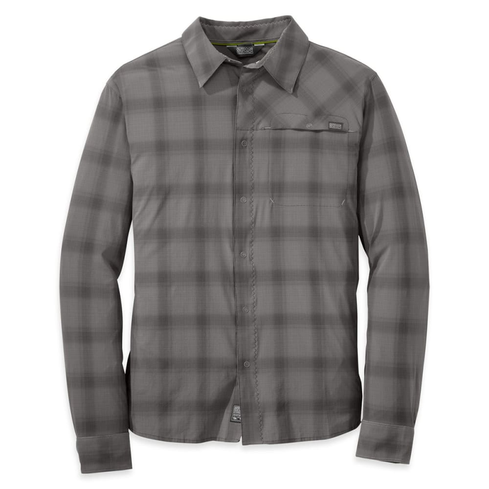 OUTDOOR RESEARCH Men's Astroman Long-Sleeve Shirt - PEWTER/CHARCOAL