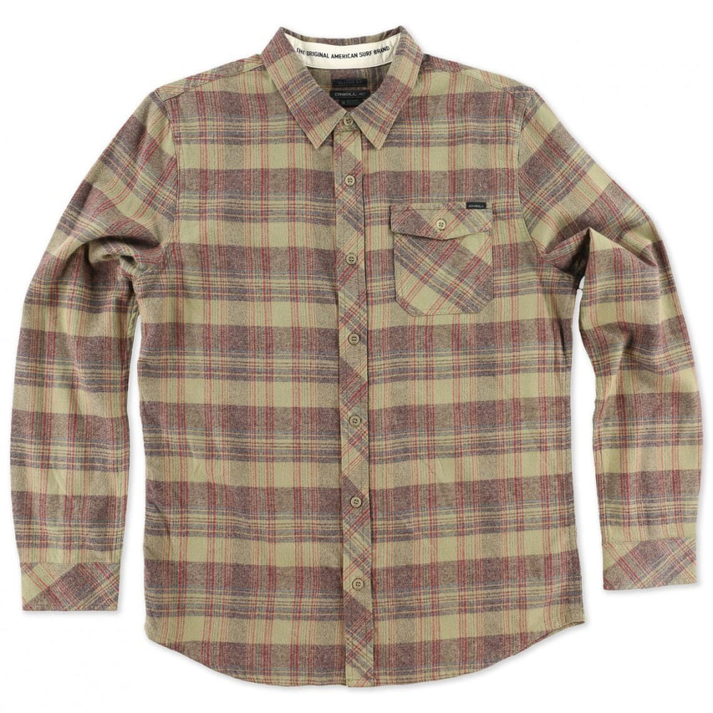 O'NEILL Men's Palisade Flannel Shirt - BURGUNDY