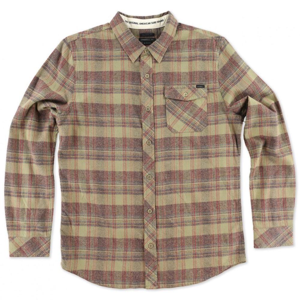 O'NEILL Men's Palisade Flannel Shirt - BURGUNDY