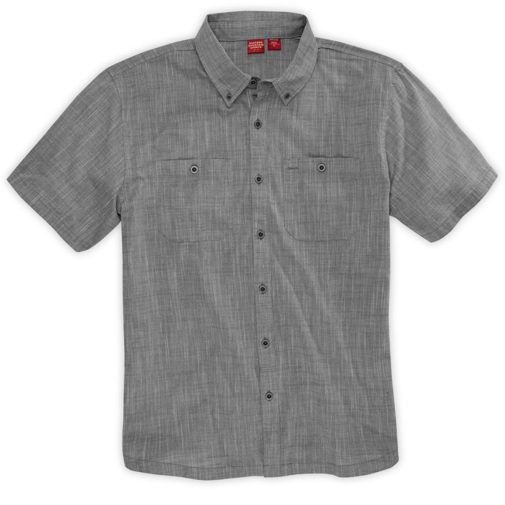 EMS® Men's Chambray Shirt, S/S - PEWTER