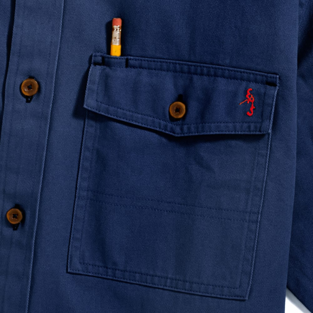 EMS Men's Fencemender Work Shirt - NAVY BLAZER