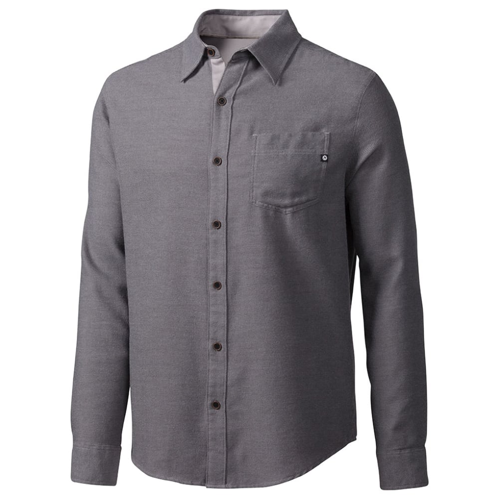 MARMOT Men's Hobson Long-Sleeve Flannel Shirt - SLATE GREY