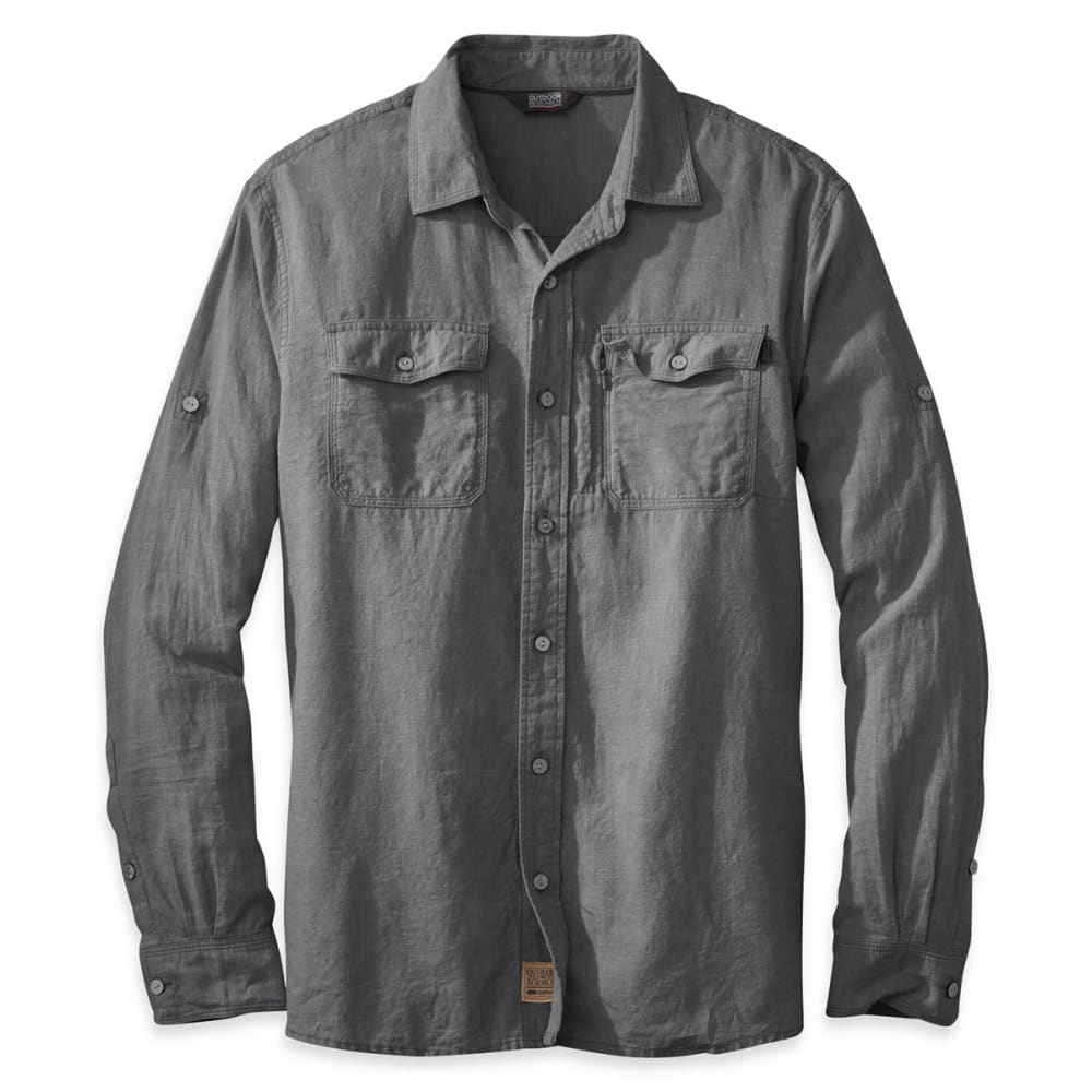 OUTDOOR RESEARCH Men's Harrelson Shirt, L/S - CHARCOAL