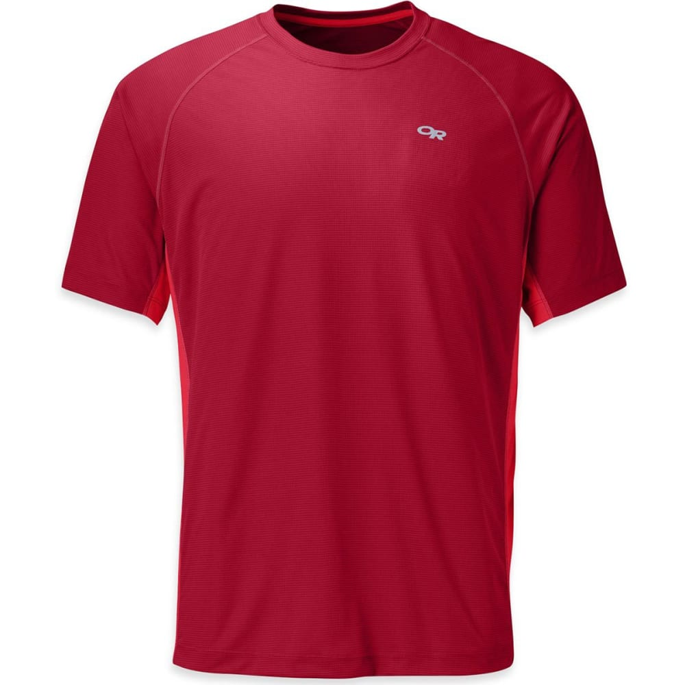 OUTDOOR RESEARCH Men's Echo Duo Tee - 0456-REDWOOD/HOT SAU