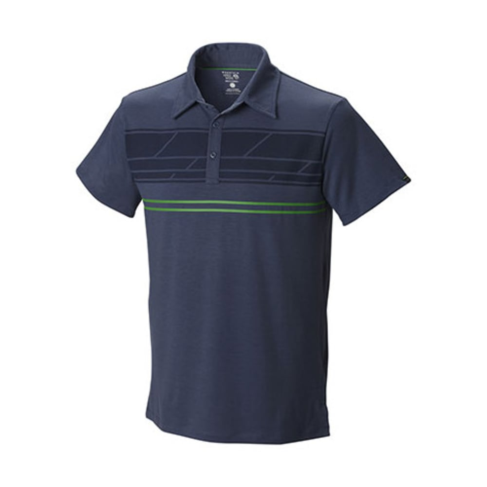 MOUNTAIN HARDWEAR Men's DryTraveler Stripe Polo - ZINC