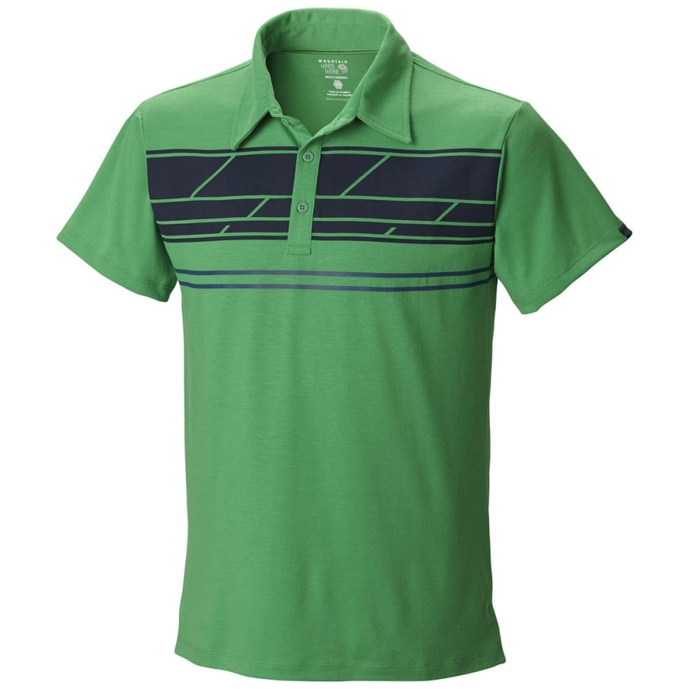 MOUNTAIN HARDWEAR Men's DryTraveler Stripe Polo - FUSE GREEN