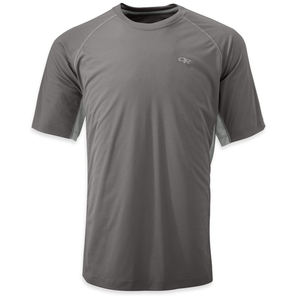 OUTDOOR RESEARCH Men's Echo T-Shirt, S/S - ALLOY/PEWTER