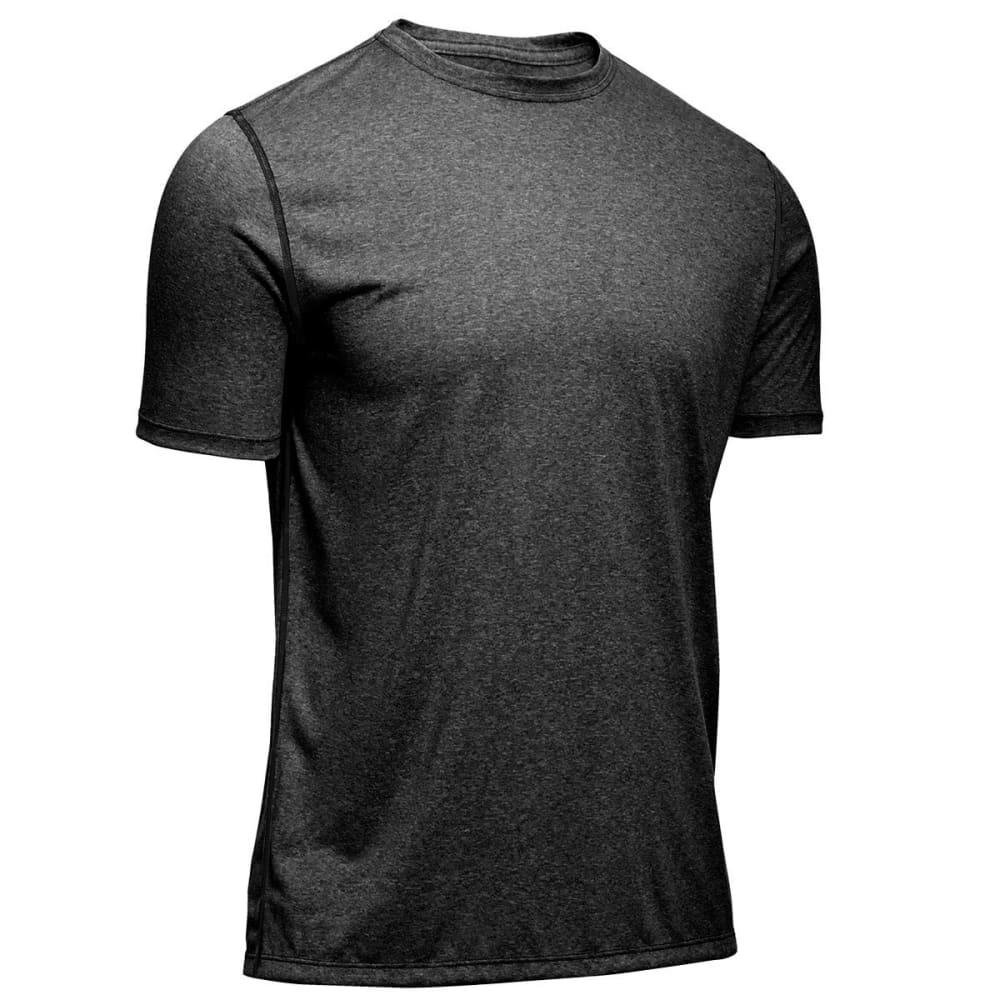 EMS® Men's Techwick® Essentials Short-Sleeve Crew  - COAL HEATHER