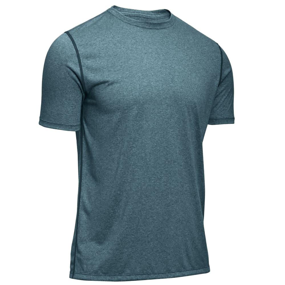 EMS® Men's Techwick® Essentials Short-Sleeve Crew  - BALSAM HEATHER