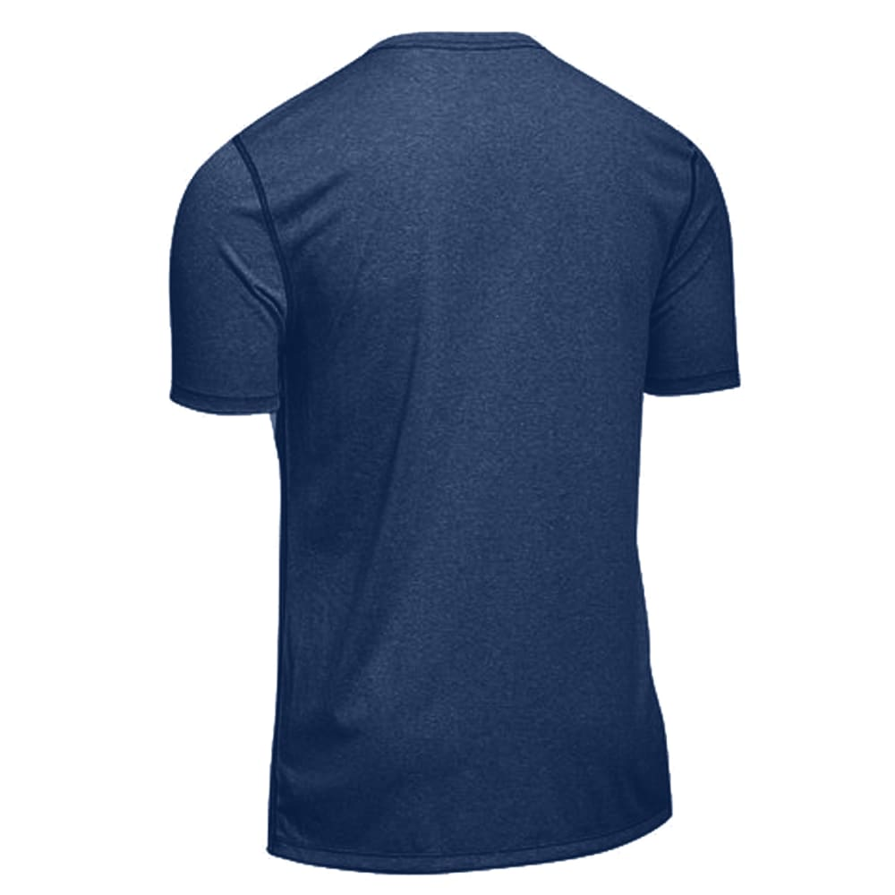 EMS Men's Techwick Essentials Short-Sleeve Crew - ESTATE BLUE HEATHER