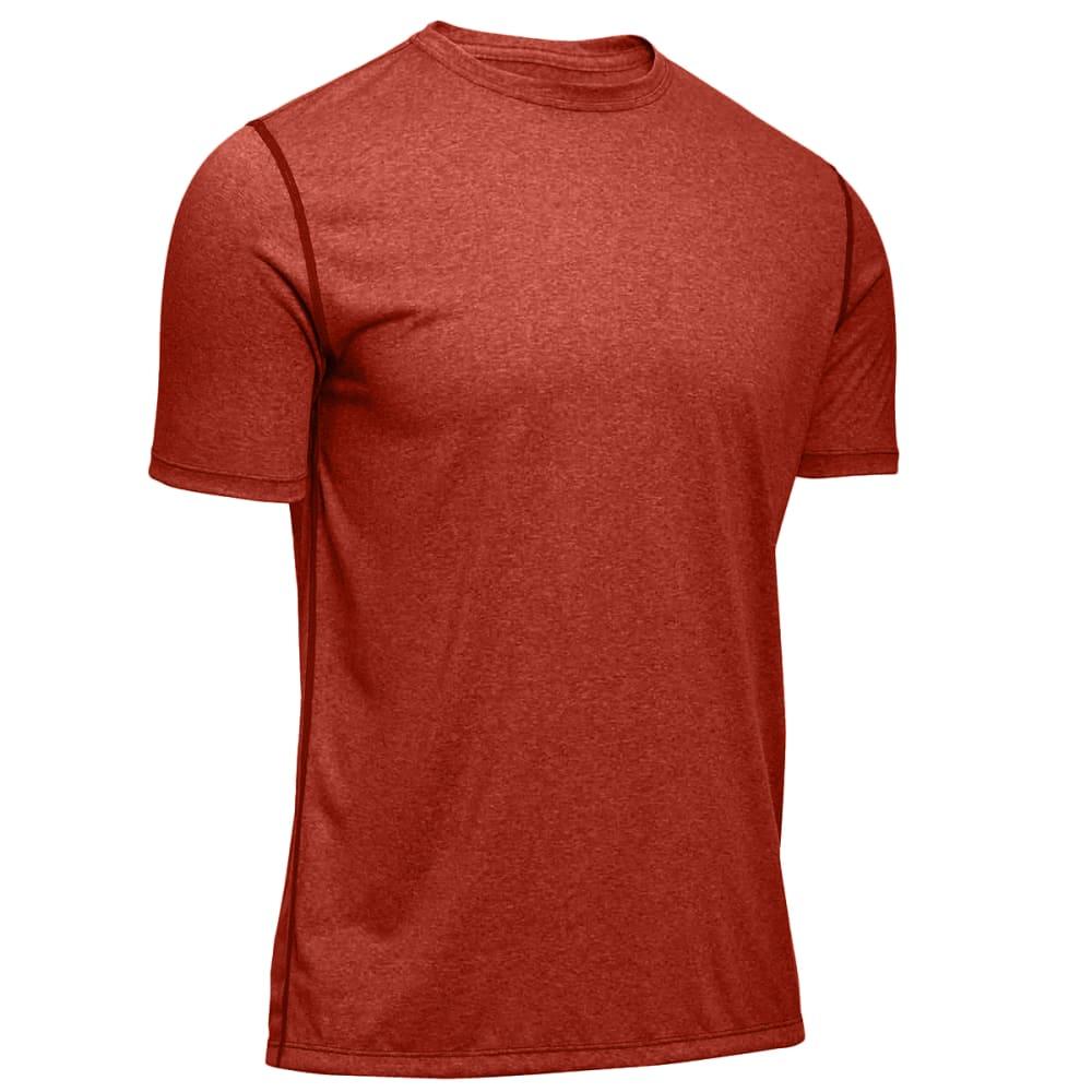 EMS® Men's Techwick® Essentials Short-Sleeve Crew  - RED CLAY HEATHER