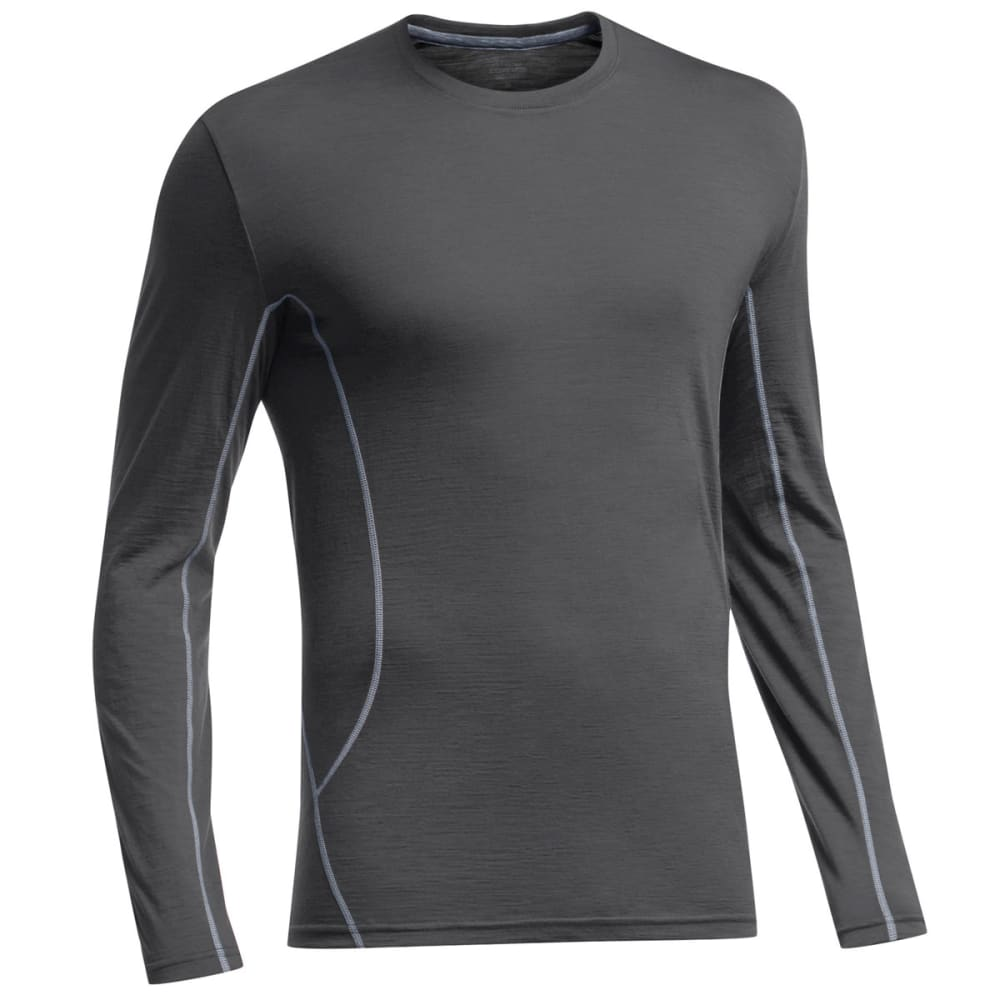 ICEBREAKER Men's Aero Featherweight Crew, L/S - MONSOON/MINERAL