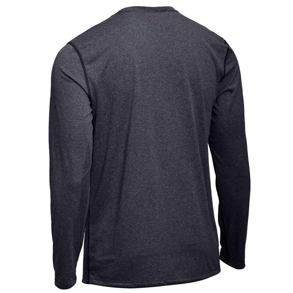 EMS Men's Techwick Essentials Long-Sleeve Crewneck Shirt - JET BLACK