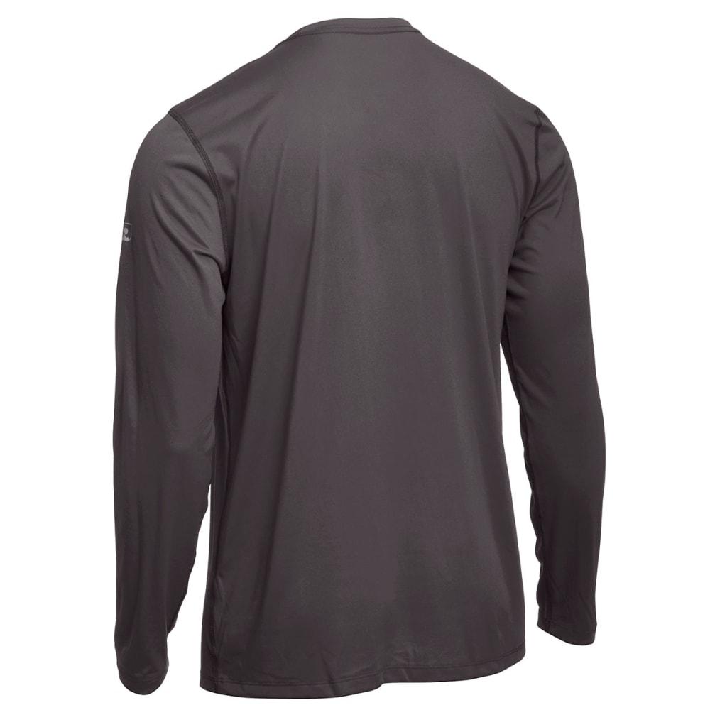 EMS® Men's Techwick® Essentials Long-Sleeve Crew - CHARCOAL HEATHER
