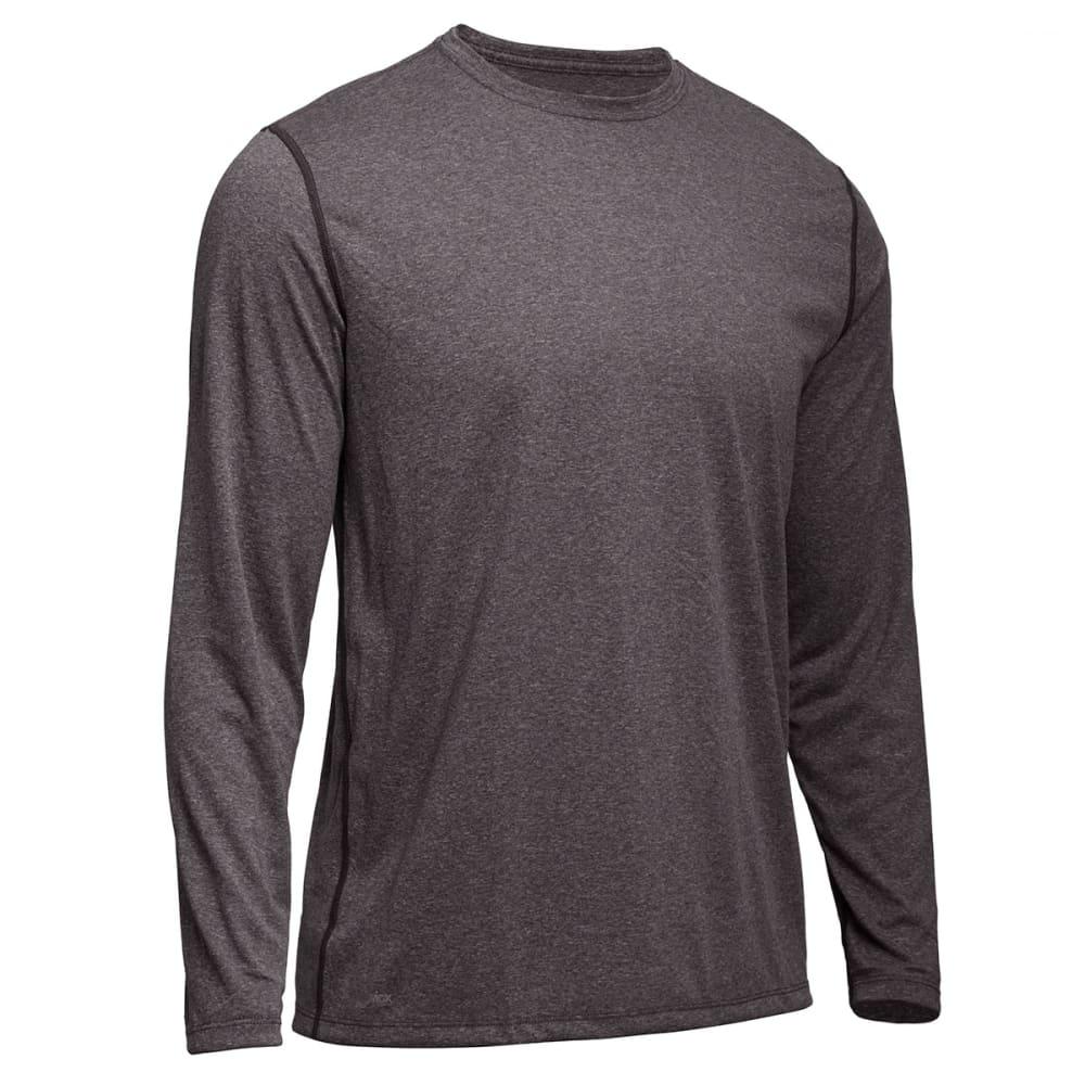 EMS Men's Techwick Essentials Long-Sleeve Crewneck Shirt - CHARCOAL HEATHER