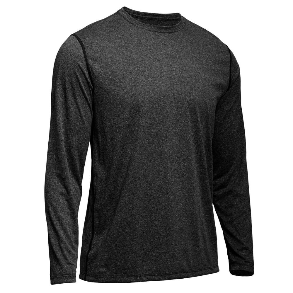 EMS® Men's Techwick® Essentials Long-Sleeve Crew - COAL HEATHER