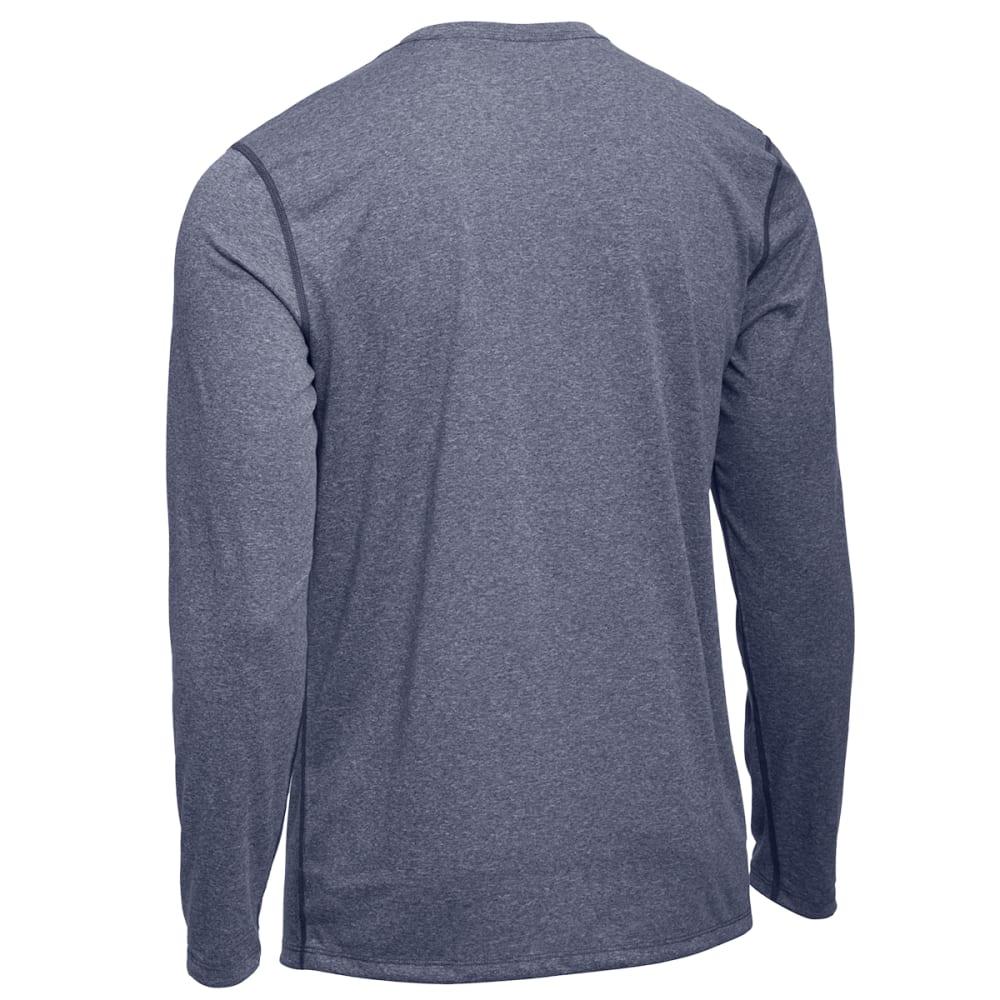EMS® Men's Techwick® Essentials Long-Sleeve Crew - NAVY BLAZER HEATHER
