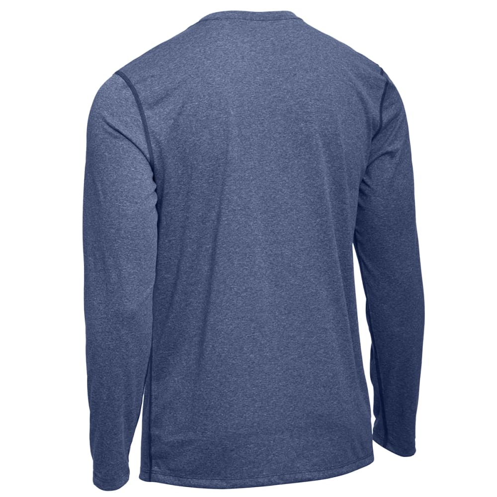 EMS Men's Techwick Essentials Long-Sleeve Crewneck Shirt - FADED ENSIGN HEATHER