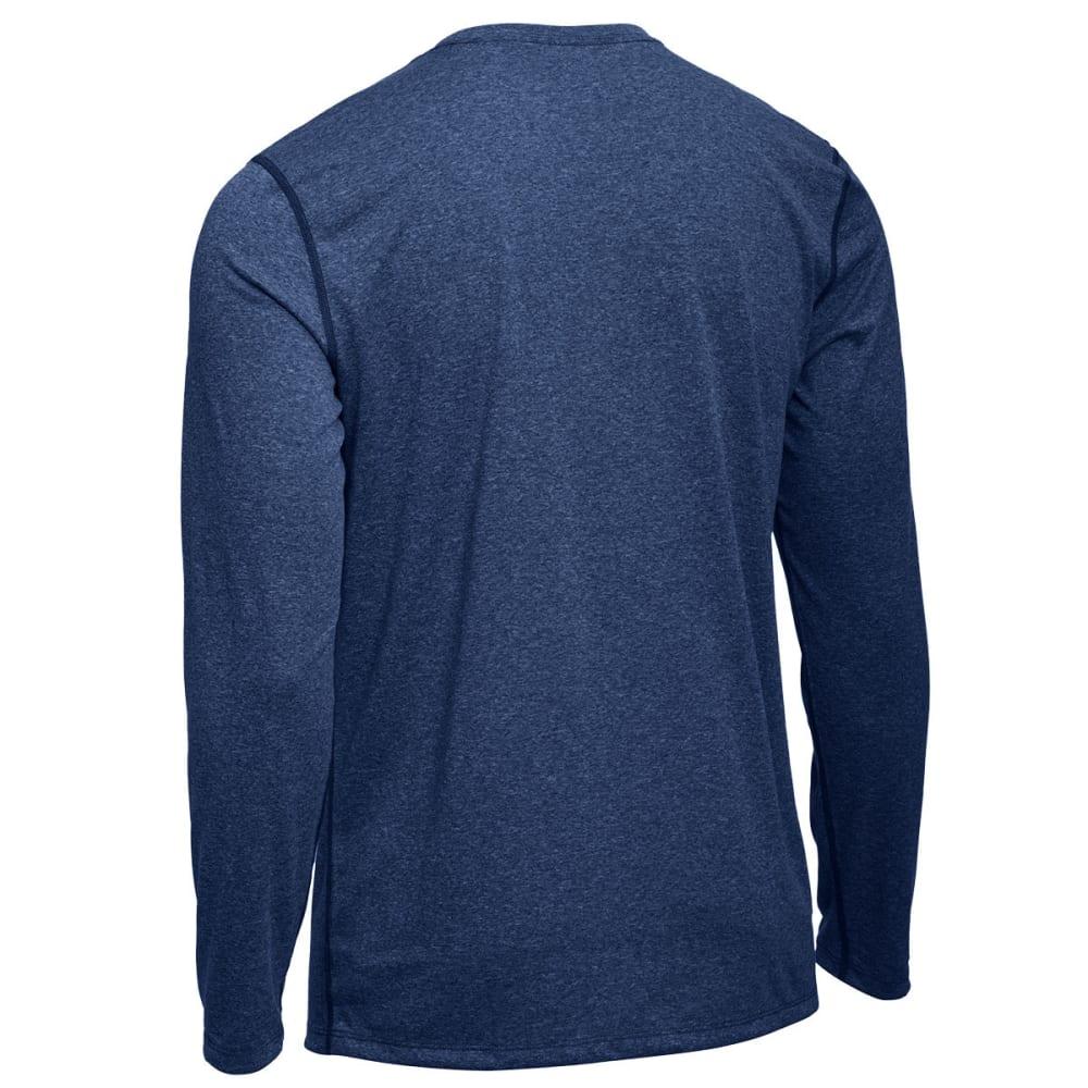 EMS® Men's Techwick® Essentials Long-Sleeve Crew - ESTATE BLUE HEATHER
