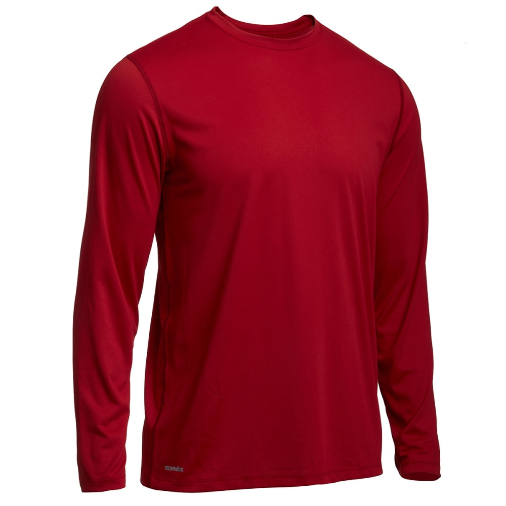 EMS® Men's Techwick® Essentials Long-Sleeve Crew   - CHILI PEPPER